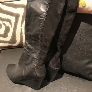 Black Suede and Leather Rachael Roy Boots SZ 8